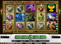excalibur video slot