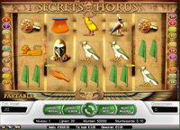 secrets of horus video slot